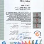 Stal AR500 certyfikat