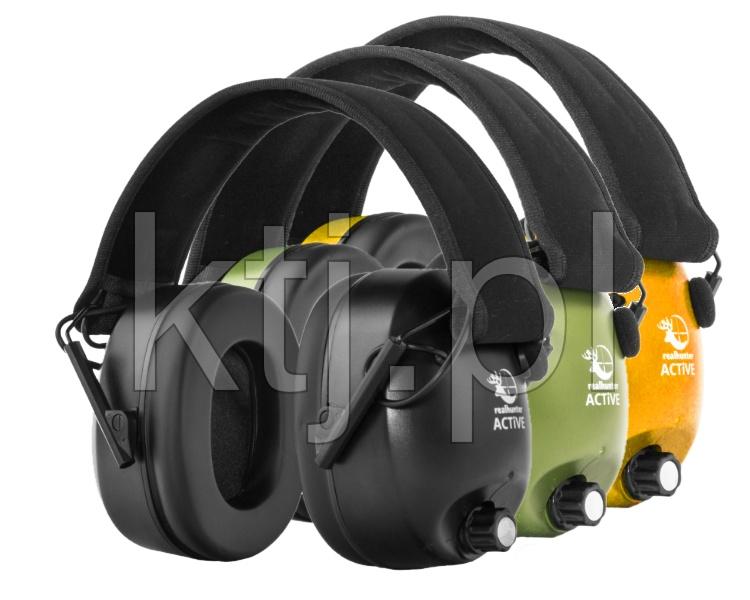 Słuchawki ochronne, aktywne RealHunter ACTiVE