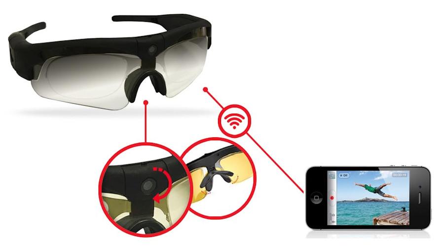 Okulary z kamera MFI CHROME