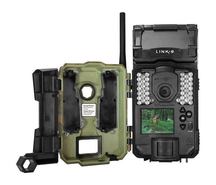 Kamera fotopułapka SpyPoint Link S z transmisją danych i panelem słonecznym wnętrze